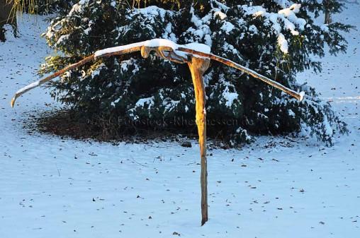 """Skulptur """"Xana"""" von Amador Vallina, im Skulpturenpark des Künstlers in Wörrstadt"""
