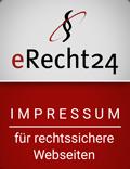 Siegel: eRecht24 Impressum für rechtssichere Webesiten